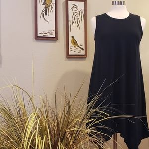 MOSSIMO Black Shark Hem Tank Dress Size Med